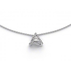 Pendentif Diamants 0,318 Carat G SI Triangle Or blanc