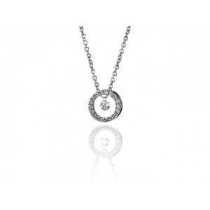"Pendentif Diamants 0,20 Carat H SI ""Bulle en Diamants"" Or blanc"
