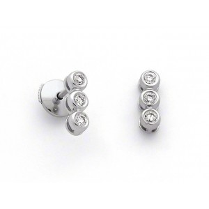 Boucles d'oreilles Diamants 0,18 Carat Or blanc