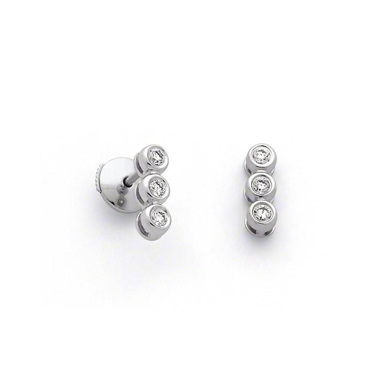 Boucles d'oreilles Diamants 0,18 Carat Or blanc