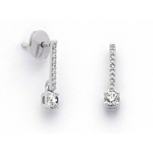 Boucles d'oreilles Diamants 0,29 Carat G SI Or blanc