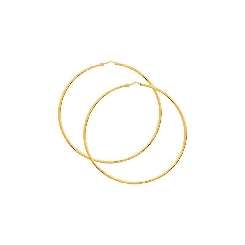 Créoles fil rond ø1,8mm système Vector Diamètre 55mm Or jaune