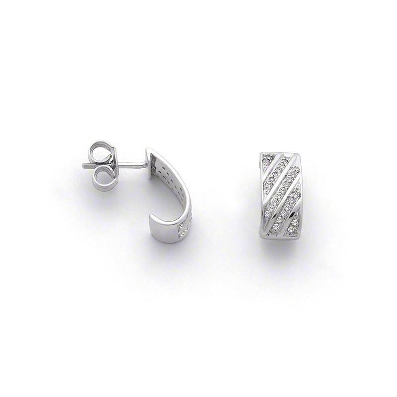 Créoles Diamants 0,20 Carat G SI Or blanc