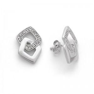 Boucles d'oreilles Diamants 0,08 Carat Or blanc