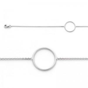 Bracelet avec motif Cercle 16mm Or blanc