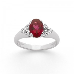 Bague Rubellite 1,48 Carats et Diamants 0,25 Carat G VS Or blanc