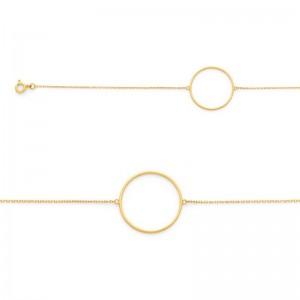 Bracelet avec motif Cercle 20mm Or jaune