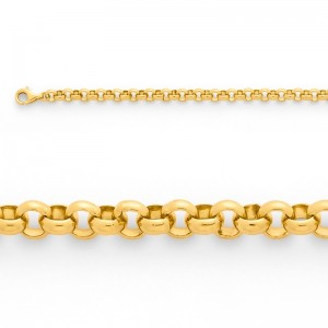 Bracelet Jaseron massif 5mm Or jaune