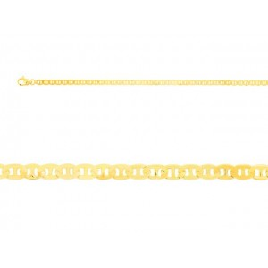 Bracelet mailles marine plate 3mm Or jaune