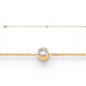 Bracelet joaillerie Diamants 0,12 Carat serti clos Or jaune