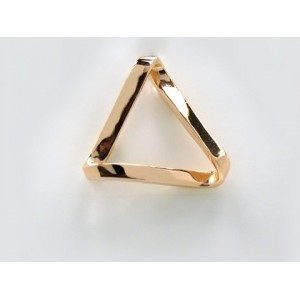 Pendentif symbolique Triangle ruban long Or jaune