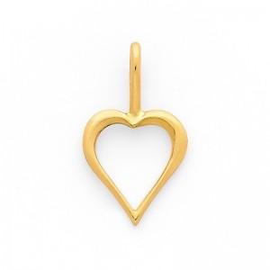 Pendentif cœur Or jaune 9mm