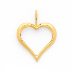 Pendentif cœur Or jaune 17mm