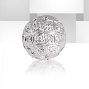 Fermoir interchangeable Diamants parsemés boule 12mm