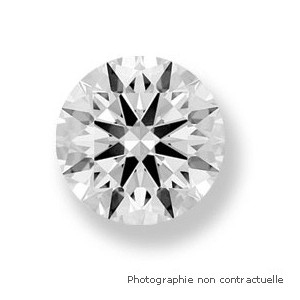 Diamant taille brillant rond 0,41 Carat D VS2 3 x Excellent