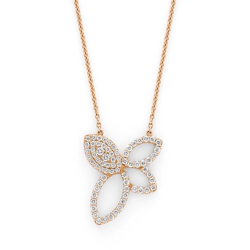 Pendentif Diamants 0,60 Carat Or rose