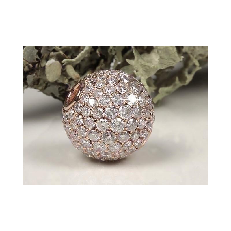 Fermoir interchangeable Diamants Or rose