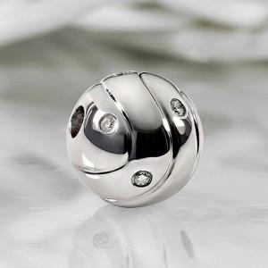 Fermoir interchangeable Diamants parsemés boule 12mm-4