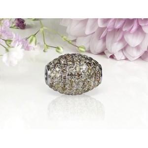Fermoir Interchangeable olive Diamants bruns 2,32 Carats SI Or blanc
