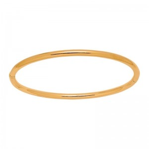 Bracelet rigide fil rond massif 3mm Or jaune