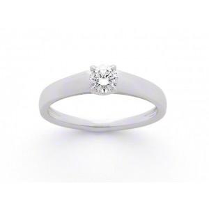 Solitaire Diamant 0,30 Carat F SI1 4 griffes Or blanc