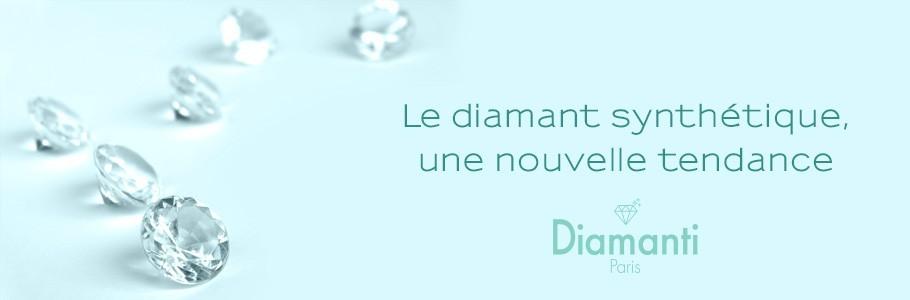 Alliances & bague de fiançailles en Diamant synthétique