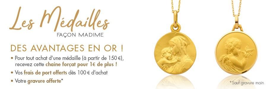 Médailles gamme Naissance et baptême de la Bijouterie Madime à Paris - France