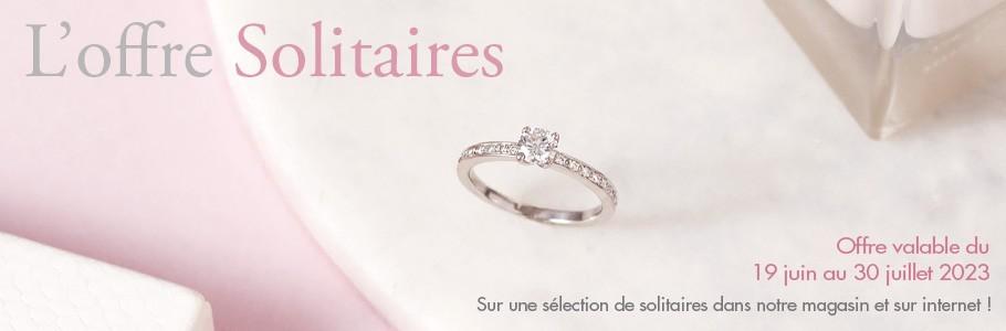 Offre promotionnelle chez la Bijouterie Madime Paris : soltaires diamants